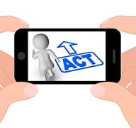 Act and running character displays urgent action Stock Illustration