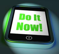 Stock Illustration of do it now on phone displays act immediately