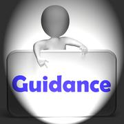 Stock Illustration of guidance sign displays instruction direction and support