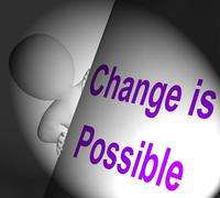 Change is possible sign displays reforming and improving Stock Illustration