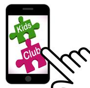 Kids club puzzle displays play and fun for children Piirros