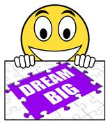 dream big sign means ambitious hopes and goals - stock illustration