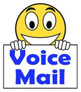 Voice mail on sign shows talk to leave message Stock Illustration