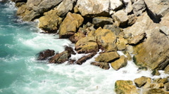 Time Lapse of Ocean Waves Crashing on Rocks - Big Sur Stock Footage