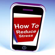 How to reduce stress phone on notebook shows reducing tension Piirros