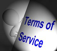 terms of service sign displays user and provider agreement - stock illustration