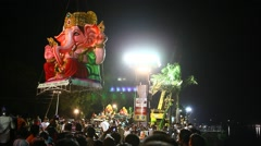 Lord Ganesha Statue at Hyderabad India Stock Footage