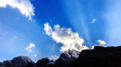 Mountains with clouds. Time Lapse. Pamir, Tajikistan Stock Footage