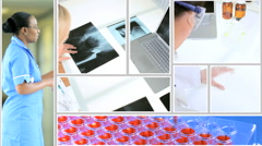 Clinical healthcare motion graphics touchscreen analysis diagnosis x-ray science Stock Footage