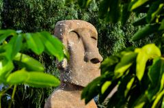 Moai standing from easter island Stock Photos