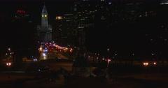 Night scenes in the city of Philadelphia. Stock Footage
