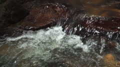Fresh water creek close up slow motion dolly slider video shot Stock Footage