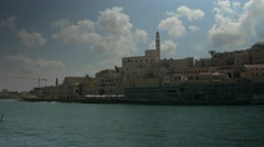 Jaffa old city pan to harbor 4K Stock Footage