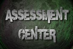 assessment center concept - stock illustration