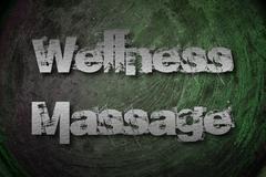 wellness massage concept - stock illustration