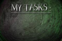 my tasks concept - stock illustration