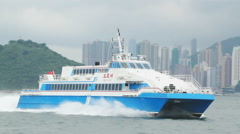 high-speed hydrofoil ferry boat - stock footage