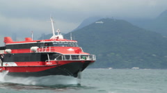 High-speed hydrofoil ferry boat Stock Footage