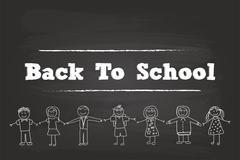 Back To School Children Stock Illustration