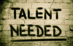 Talent needed concept Stock Illustration