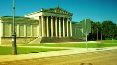 Neoclassical museum in Konigsplatz, Munich, Bavaria Stock Footage
