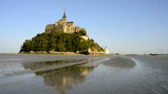 Abbey Mont Saint Michel, Normandy, France Stock Footage