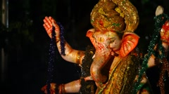 Lord Ganesha Statue at Hyderabad India Stock Footage