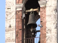 Bell tower with a bird Stock Footage
