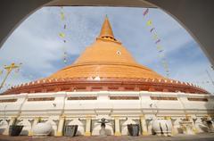 PHRA PRATHOM JEDI, The biggest Pagoda Stock Photos