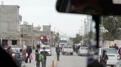 View from inside car in Northern Iraq Stock Footage