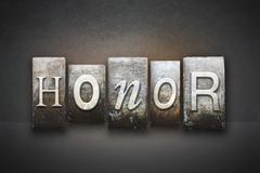 Honor letterpress Stock Illustration