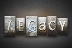 legacy letterpress - stock illustration