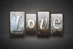 love letterpress - stock illustration