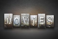 Movies letterpress Piirros