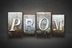 Prom theme letterpress Stock Illustration