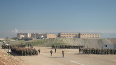 Kurdish Peshmerga training in Northern Iraq Stock Footage