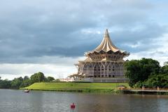 Sarawak state assembly building Stock Photos
