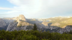 Time Lapse of Sunset Afterglow of Half Dome in Yosemite -Tilt Up- Stock Footage