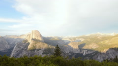 Time Lapse of Sunset Afterglow of Half Dome in Yosemite Stock Footage