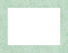 light green polka dot frame - stock illustration