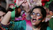 "Stock Video Footage of Women chanting ""Go Nawaz Go"" at PTI Azadi March Protest in Karachi, Pakistan"