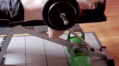 Bench Press Barbell Stock Footage