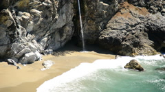 McWay Falls Beach, Big Sur California Stock Footage