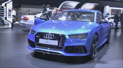 World premiere Audi RS7 Sportback quattro Stock Footage