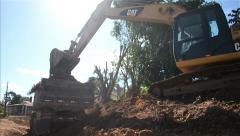 Stock Video Footage of Loader excavator truck