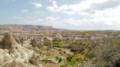 Landscape, The Fairy Chimneys Of Cappadocia Stock Footage