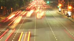 Timelapse of the Rush Hour in Buenos Aires Stock Footage