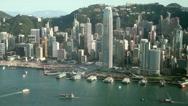 Stock Video Footage of Hong Kong City skyline