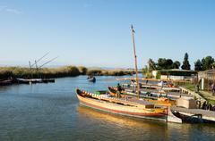 Boats in albufera, valencia, spain Stock Photos
