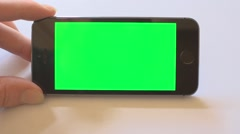 Green Screen iPhone 5s Horizontal One Hand Stock Footage